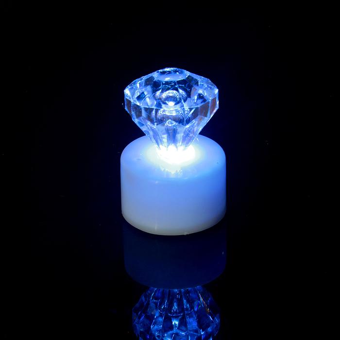 """Свеча светодиодная """"Кристалл"""", переливается разными цветами"""