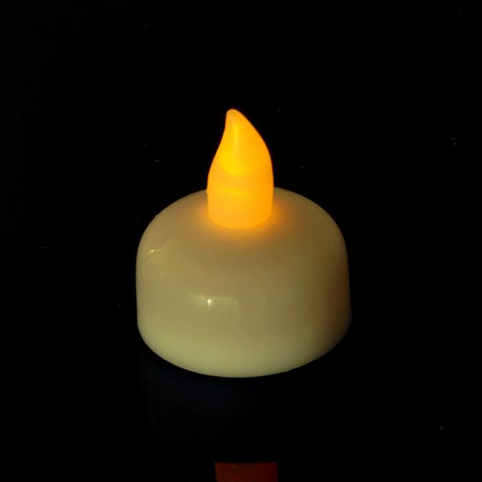 """Свеча светодиодная """"Огонь"""" с датчиком прикосновения с водой, горит жёлтым"""