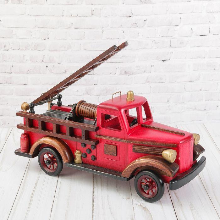 """Сувенир дерево """"Ретро. Пожарная машина"""" 15х30,3х11,6 см"""