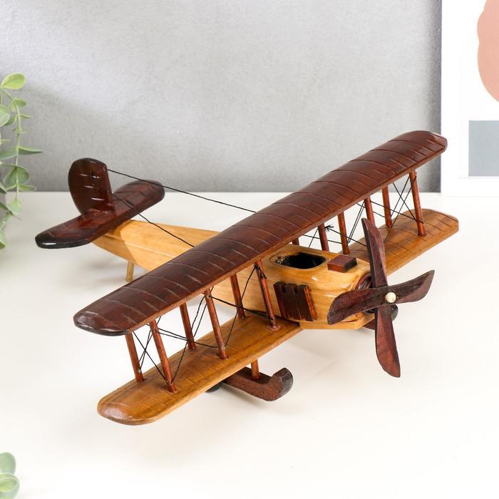 """Сувенир дерево """"Ретро. Самолет"""" МИКС 11,5х35,5х30 см"""