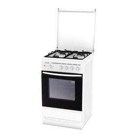 Плита комбинированная Terra GE 5404 W, 4 конфорки, 55 л, электр. духовка, белая
