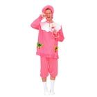 """Карнавальный костюм для взрослых """"Малыш"""", 3 пр-та: чепчик, рубашка, брюки, р-р XL 48-50, розовый"""