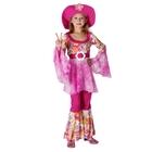 """Карнавальный костюм """"Хиппи-дива"""", кофта, штаны, шляпа, 120-130 см, р-р M"""