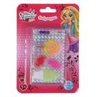 Набор косметики для девочки блеск для губ 6-и цветный, 4,5 гр, кисточка