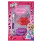 Набор косметики для девочки блеск для губ 3 цвета по 0,6 гр + аппликатор
