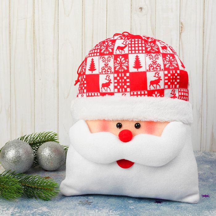 Мешок для подарков «Дедушка Мороз», красный нос