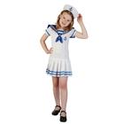"""Карнавальный костюм """"Морячка"""", 2 предмета: платье, шляпа, размер M 120-130 см"""