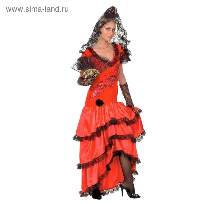 """Карнавальный костюм """"Кармен"""", 2 предмета: платье, ободок, размер M-L 44-48"""