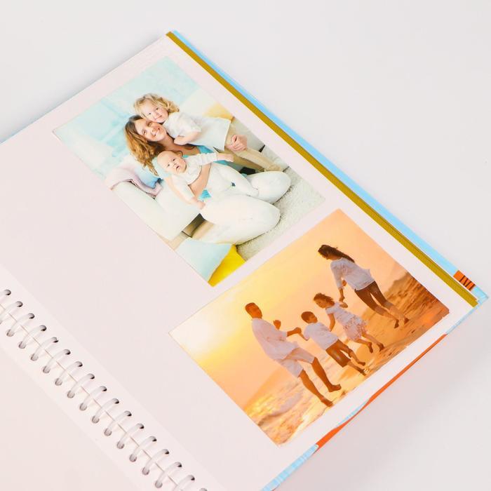 """Фотоальбом магнитный на 20 листов """"Красочные домики"""" 29х24,5х2,5 см"""