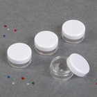 """Set of jars for decorative """"Circle"""", d=2.8 cm, 5g, 4pcs, color white/transparent"""