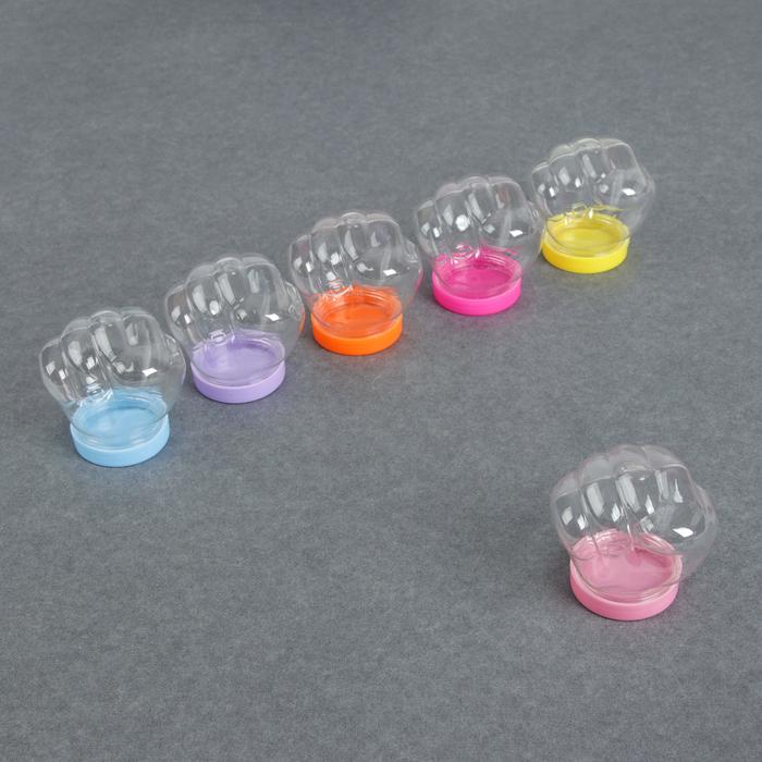 Бутылочка для хранения «Кулачок», 50мл, цвет МИКС