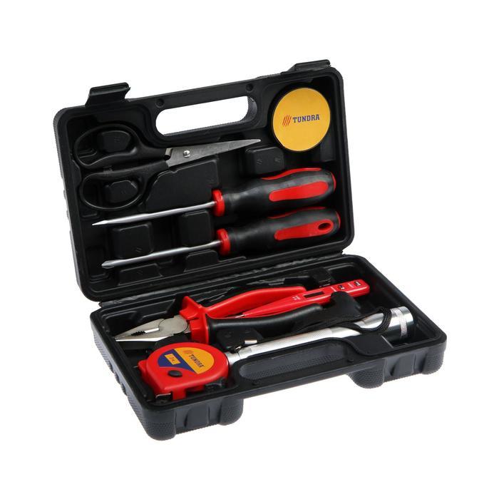 Набор инструментов в кейсе TUNDRA, универсальный, 8 предметов