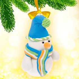 """Christmas toy, set to create from the mass for sculpting """"the Snowman"""" + eyes, stack"""