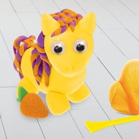 Игрушка из массы для лепки «Пони» + глазки, стека