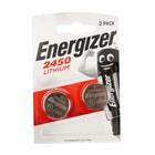 Батарейка литиевая Energizer, CR2450-2BL, 3В, блистер, 2 шт.