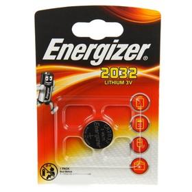 Батарейка литиевая Energizer, CR2032-1BL, блистер, 1 шт. Ош