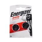 Батарейка литиевая Energizer, CR2430-2BL, блистер, 2 шт.