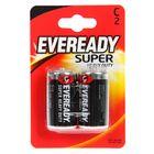 Батарейка Солевая  Eveready Super Heavy Duty, C, R14-2BL, блистер, 2шт.