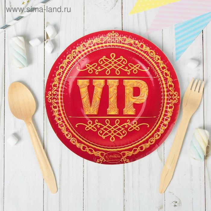 """Набор бумажных тарелок """"VIP"""" (6 шт.), 18 см"""