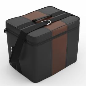 Автомобильная сумка, экокожа, чёрно-шоколадная