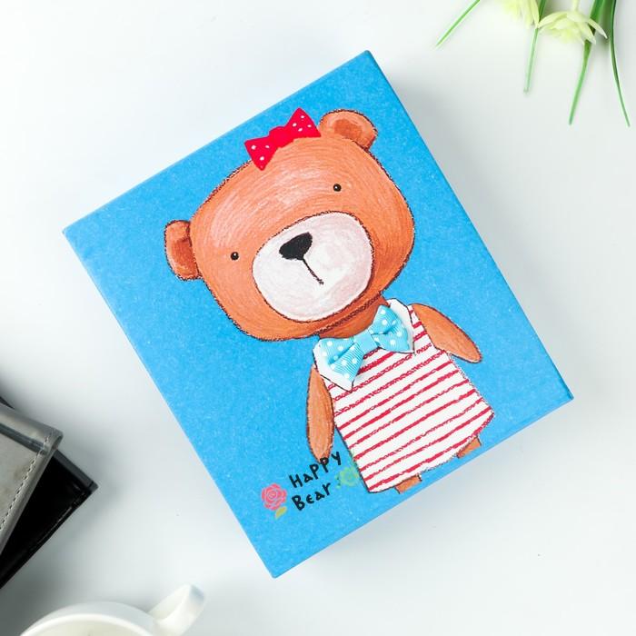"""Фотоальбом на 40 фото 10х15 см """"Нарядный медведь"""" в коробке МИКС 18,5х16х4,7 см"""
