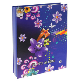 """Фотоальбом на 200 фото 13х18 см """"Цветы. Графичность"""" в коробке МИКС 29,5х23х5 см"""