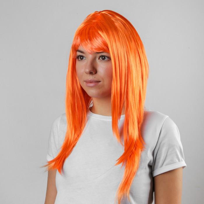 """Карнавальный парик """"Красотка"""", цвет оранжевый"""