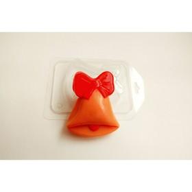 """Пластиковая форма для мыла """"Колокольчик"""" 8,5х7 см"""