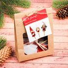 Набор для творчества «Создай новогоднее украшение на палочке» набор 3 шт.