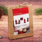 Набор для творчества «Создай новогоднюю подвеску. Куколки с подарком» набор 5 шт.