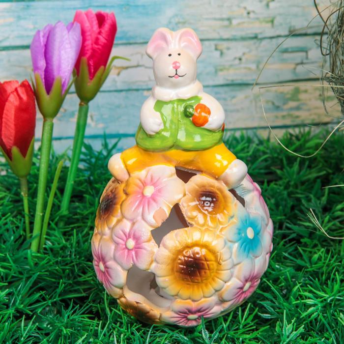 """Сувенир """"Кролик на цветочном шаре"""" световой"""