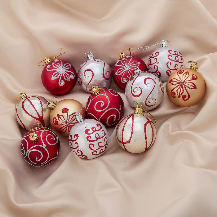 """Новогодние шары """"Серпантин"""" (набор 12 шт.)"""