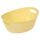 Корзинка кружевная, овальная 29х21х10,5 см, цвет желтый
