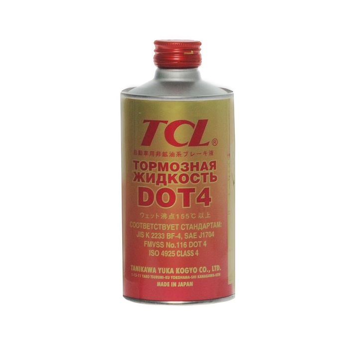 Жидкость тормозная TCL DOT4, 1 л