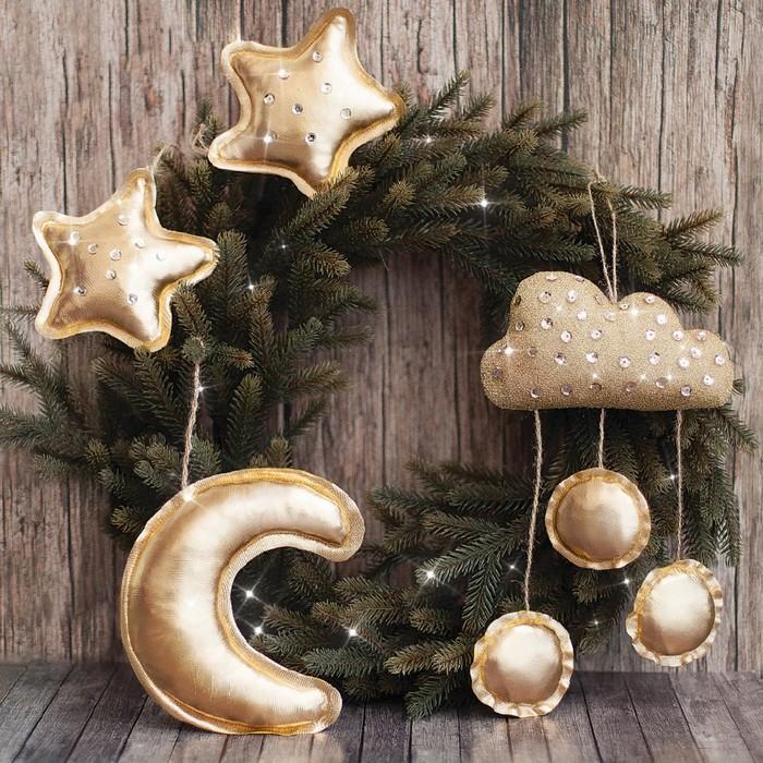 Игрушки на ёлку «Новогодняя ночь», набор для шитья, 10,7 × 16,3 × 1,5 см - фото 1749204