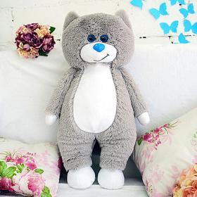 Мягкая игрушка «Кот Боря», цвет серо-белый, 65 см