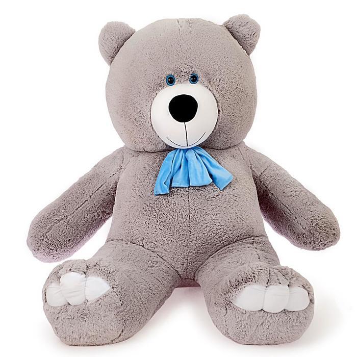 Мягкая игрушка «Мишка Олимп», цвет серый, 150 см