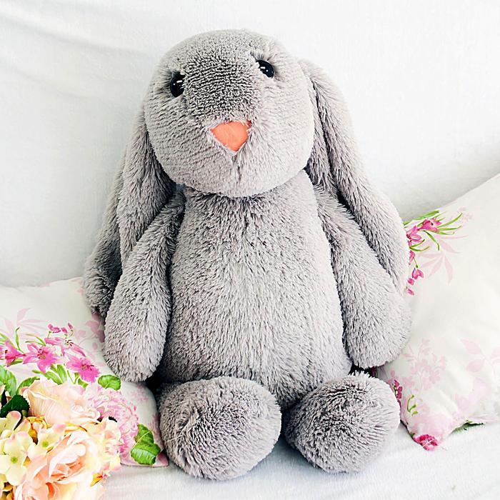 """Мягкая игрушка """"Зайчик Лесли"""", цвет серый, 65 см"""