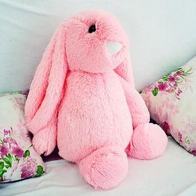 Мягкая игрушка «Зайчик Лесли», цвет розовый, 65 см