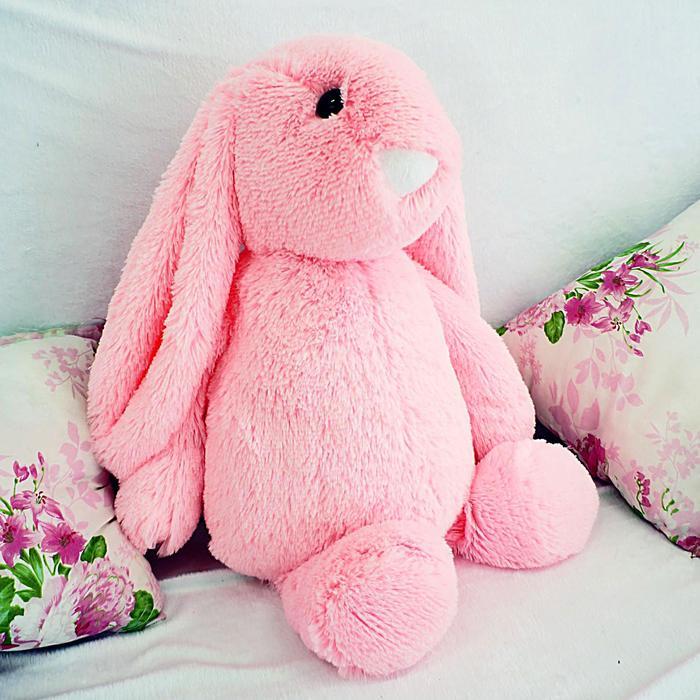 """Мягкая игрушка """"Зайчик Лесли"""", цвет розовый, 65 см"""