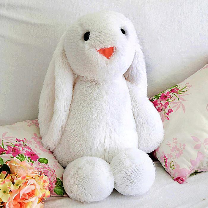 """Мягкая игрушка """"Зайчик Лесли"""", цвет белый, 65 см"""