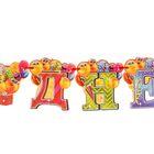 Набор «С Днём рождения», гирлянда, шары - фото 951860