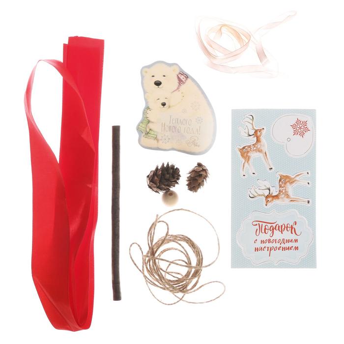 Игрушка новогодняя «Подарок с новогодним настроением», набор для создания, 8 × 15 × 6 см