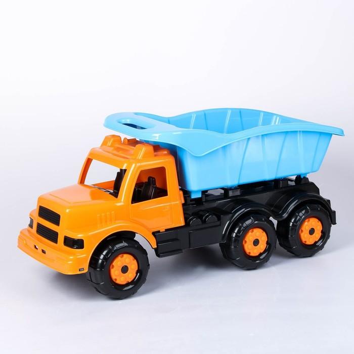 Машинка детская «Самосвал», оранжевая - фото 434320