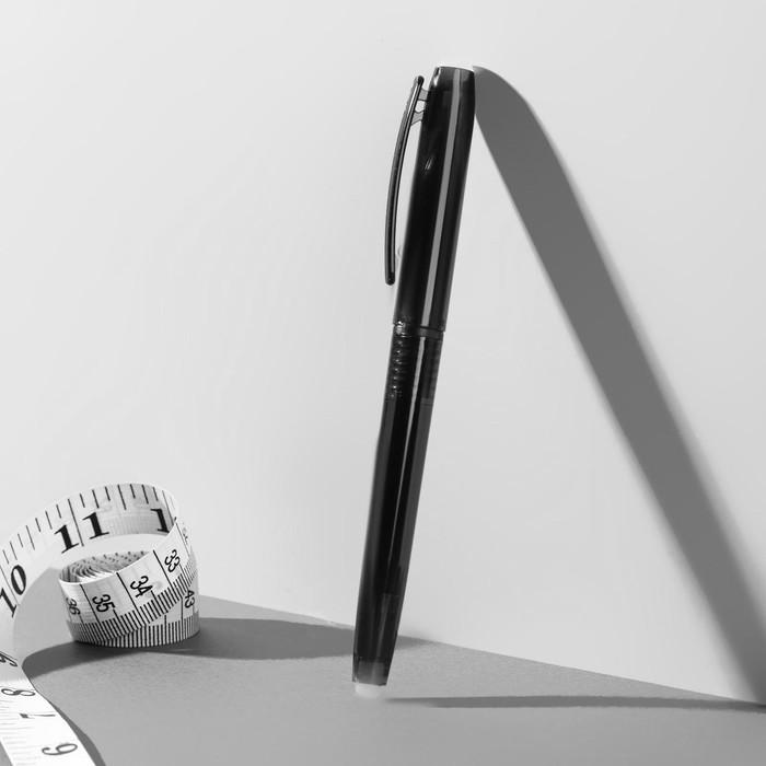 Ручка для ткани, термоисчезающая, цвет чёрный №02