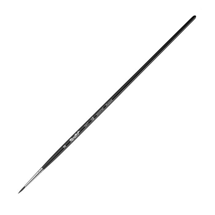 Кисть белка круглая Roubloff 1417 № 2 длинная ручка ЖБ1-02,07Б матовая