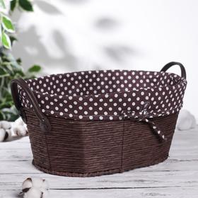 Корзина для хранения плетёная «Горошек», цвет коричневый