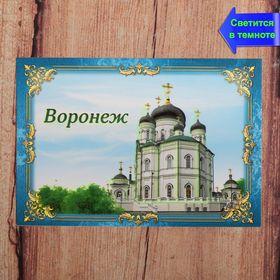Магнит флюоресцентный 'Воронеж', 8 х 5,5 см Ош