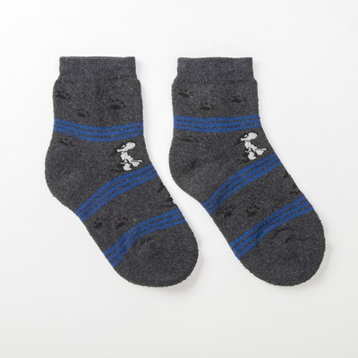 Носки детские плюшевые 2ЕS-14, цвет серый, размер 14-16