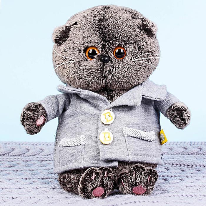 Мягкая игрушка «Басик BABY», в сером пиджачке, 20 см - фото 4468397